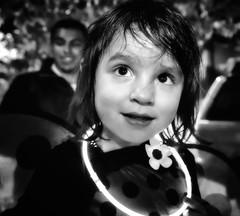Daddy's Girl (Cheryl Atkins) Tags: street portrait halloween girl father blackandwhite monochrome streetphotography fujixt2