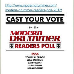 Remember to get your vote in for @BKerchOfficial in The Modern Drummer Readers Poll! #BarryKerch #Shinedown Link to vote: http://www.moderndrummer.com/modern-drummer-readers-poll-2017/ (ShinedownsNation) Tags: shinedown nation shinedowns zach myers brent smith eric bass barry kerch