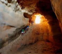 Cistern Descent (sdobie) Tags: 2013 cistern friends israel masada monica stairs todd underground explore 1500views 2000views 3000views 4000views 5000views 2500views 1750views descending glow sonyhx 6000views 7000views