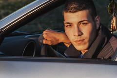 Adi (Calin Sirbu) Tags: adi alfa romea 156 head window portrait sunset shooting vsco filter driver boy man