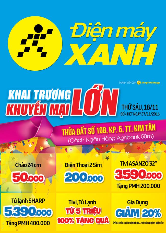 Khai trương siêu thị Điện máy XANH Kim Tân, Thanh Hóa