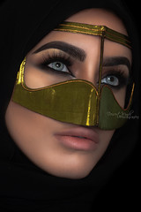 The Desert Echoes.... (DesertWindsPhotography) Tags: jewelry makeup art blue gold red india arab arabic uae qatar saudi arabia black colorful morocco fabric hijab green women portrait indoor bright background bedouin desert eyes culture batoola