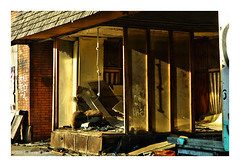 Window Dressing (TooLoose-LeTrek) Tags: detroit urbandecay store window display cord