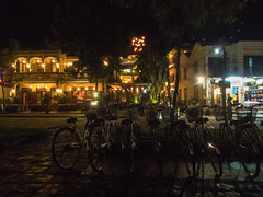 Evening in Hoi An (Xnalanx) Tags: asia bicycle buildings environment hoian manmade night objects places restaurant time vehicles vietnam
