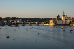Prague; Charles bridge (lancscacher) Tags: prague sonyrx100 czech republic city river vltava charlesbridge karluvmost praha