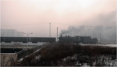 Smoke & Smog (Welsh Gold) Tags: sy1210 coal empties smoke smog fuxin liaoning province china