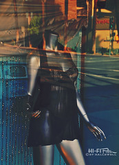 Window (un) Dressing (Hi-Fi Fotos) Tags: store window display glass reflection lingerie black lace teddy sheer mannequin pose nikon d5000 hififotos hallewell