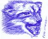lobo a lapicero (ivanutrera) Tags: draw dibujo drawing dibujoalapicero dibujoenboligrafo lapicero boligrafo animal wild wildlife sketch sketching wolf lobo