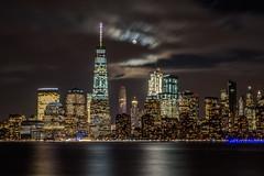 NYC with moon-0139 (kendrajwp) Tags: december2016 libertystatepark moon newjersey newyork night