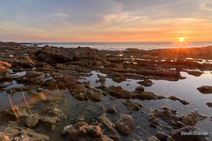 Low Tide at Laguna (kevin-palmer) Tags: lagunabeach victoriabeach orangecounty california december winter pacificocean waves water evening sunset nikond750 color colorful lowtide tidepools tokina1628mmf28 clouds orange yellow gold golden rocks hdr