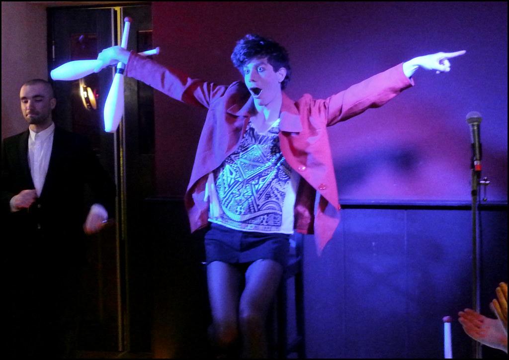 Transvestite stage show