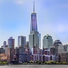 Freedom Tower Cityscape 2014 (12bluros) Tags: city nyc newyorkcity ny skyline cityscape manhattan worldtradecenter wtc lowermanhattan skyscapers freedomtower 5photosaday canonef24105mmf4lisusm 1wtc worldtradecentercomplex worldtrekker oneworldtradecenter