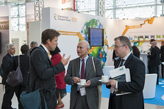 Michelin's Patrick Oliva visiting the exhibition