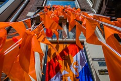 Hup Holland! (McQuaide Photography) Tags: city orange holland netherlands amsterdam canon eos europe flag nederland worldcup dslr stad oranje uwa wideanglelens ultrawideangle hupholland 100d 1018mm mcquaidephotography canon1018mm