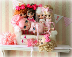 Happy Dolly Shelf Sunday ... THINK PINK STYLE !!