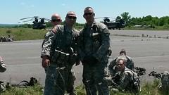 20140607-Z-Clark-016 (New York National Guard) Tags: 3rdbattalion det1 2ndbattalion senecaarmydepot nysoldiersofdeltacompany 108thinfantryfromithaca hadtheuniqueopportunitytotrainwithtwoch47chinookhelicoptersandtheircrewsfrombravocompany 126thaviationoutofrochesterthetrainingtookplaceatsenecaarmydepotlocatedintheheartofthefingerlakesbetweensenecaandcayugalakesnewlytrainedpathfinderandairassaultsoldierstrainedthecompanyonhowtoslingloadthecodup theflightcrewsverifiedtheloadsandgaverehearsalsfortheloadingandunloadingtheaircrafteachofthetrainedhookupcrewsrotatedthroughhookingtheslingloadsupandthechinooksflewashortpatternwiththe5 000lbsand12 000lbshumveeseachofthefourassaultplatoonsincodwereflownaroundcanandaiguaandkeukalakeswhileaboardthehelicoptercaptclarkwasabletopromotespcjoshuameriwethertosergeant