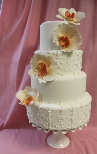 Wallpaper Design Orchid Wedding Cake