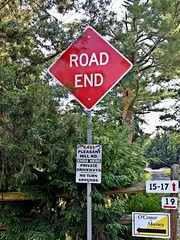 """""""ROAD END"""" sign (SchuminWeb) Tags: road county red signs sign june diamonds warning dead md ben web hill maryland baltimore diamond east signage end mills signing pleasant roadend 2014 owings owingsmills schumin schuminweb"""