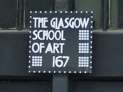 GLASGOW - THE GLASGOW SCHOOL OF ART - CHARLES RENNIE MACKINTOSH - (PARK@ARTWORKS) Tags: street school windows art architecture scotland doors pattern glasgow charles metalwork ironwork gsa nouveau renfrew rennie charlesrenniemackintosh mackintosh of surfacedecoration artschoolfire