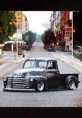 Chevrolet Pickup Truck 1950 (Drontfarmaren) Tags: chevrolet truck photo sweden pickup american session custom 1950 slammed örebro bagged drontfarmaren