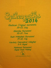 Spikeopaths Summer T-Shirt Archive: 2014 Back