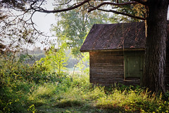 Morgue (Sameli) Tags: summer rain sun old building swing light nature alahärmä suomi finland morgue