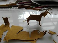 srnjak 1, ( Capreolus capreolus), Eu. Roe deer (Marija Prelog) Tags: animals pencil paper illustrations kirigami roedeer papir mytable ivali ilustracije srnjak svinnik mojamiza reemzlagam