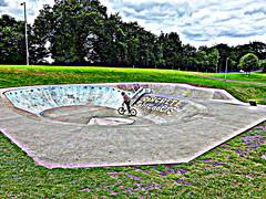 skate park (Jackal1) Tags: park fun cyclist skate
