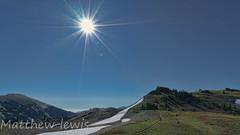 Obstruction Point (Matthew J Lewis) Tags: trees sky plants snow washington trail olympicnationalpark sunstar obstructionpoint