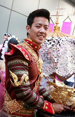Asian Costume (shaire productions) Tags: sf street portrait people man male guy fashion asian person photography photo costume asia cambodian image candid traditional picture style photograph portraiture thai imagery sfpride