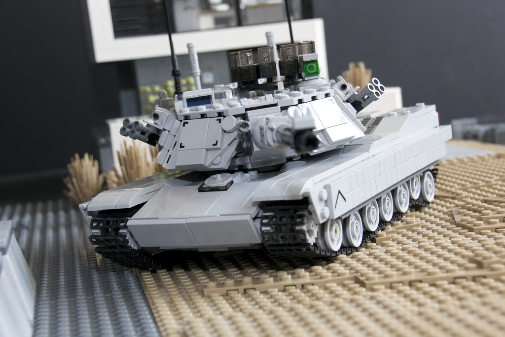78d880963a85 M1A2 Abrams MBT (Retroshark) Tags  set army war gun tank lego military kit