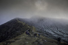 Ijen Crater (JithinJamesART) Tags: mountain clouds canon indonesia volcano path d crater 700 height ijen
