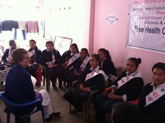 Answering questions from the student volunteers (The Advocacy Project) Tags: nepal camp people nature rural project justice women asia peace social womens medical health human rights medicine care fellowship fellows prolapse advocacy uterine