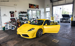 RR430_MM_8July2014_03 (ronnierenaldi.com) Tags: auto horse cars car yellow photography photoshoot wheels automotive ferrari exotic giallo modified modena scuderia supercar modded exotics f430 prancing 430 scud adv1 adv1wheels rr430