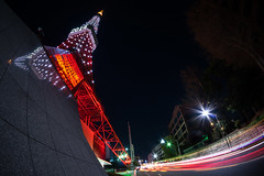 TOKYO TOWER 2014 (GLIDEi7) Tags: tower japan night tokyo sony  tokyotower  nightview   nex     minatoward  a7r e16mmf28 sel16f28 vclecf1 7r ilce7r