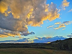Clearing Away (Deepgreen2009) Tags: sunset sky cloud west home weather garden evening surrey hills storms clearing bertha brockham