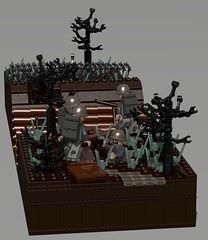 Swamps of Passchendaele (Sunder_59) Tags: lego military wwi povray moc ldd passchendaele