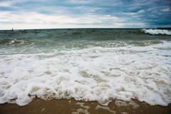 WAVEZ (roniedaguiar) Tags: summer beach waves cloudy cape cod tones