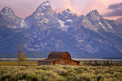Your Mountain Is Waiting (karenhunnicutt) Tags: morning summer mountains cowboys barns wyoming grandtetons wildwest mormonrow jacksonwy minneapolisphotographer karenmeyere karenhunnicutt karenmeyer karenhunnicuttphotographycom wyomingtourism minneapolisfineart artandsoulstudios