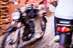 Know your place (Culinary Fool) Tags: africa november motion blur motorbike morocco motorcycle marrakech medina marrakesh 2012 culinaryfool visit2 2470mm28 brendajpederson