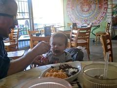 Culture {33/52} (therealjoeo) Tags: austin restaurant beans dad texas child feeding culture mexican week33theme 52weeksthe2014edition week332014 weekstartingwednesdayaugust132014