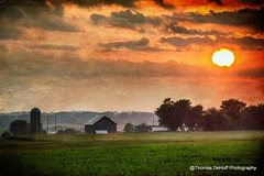 Another Iowa Sunset (Thomas DeHoff) Tags: sunset rural farm sony iowa textures a580