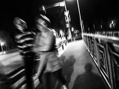 INTERFERENCES (Galantucci Alessandro) Tags: street city portrait people blackandwhite bw white black monochrome contrast photography monocromo town eyecontact europa europe strada fotografie gente candid streetphotography documentary east persone romania alb grainy fotografia bianco ritratto nero biancoenero est citt cluj clujnapoca contrasto oameni oras negru monocrom documentar albsinegru fotografiadistrada fotografiedestrada portretu documentaristica alessandrogalantucci blackandwhitecouplemanwomanbridgemotionblurshadowsgrainynightstreet