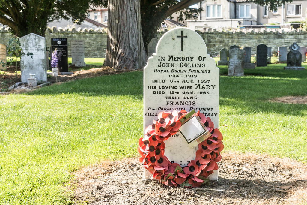 JOHN COLLINS [ROYAL DUBLIN FUSILIERS] GRANGEGORMAN MILITARY CEMETERY Ref-2108
