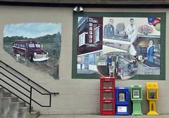 Aurora, Indiana (Bob McGilvray Jr.) Tags: bus art colors stairs mural paint free indiana aurora blocks tandysmarket