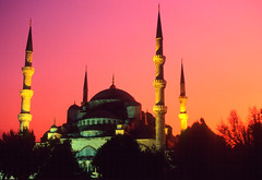Turkey (Neal J.Wilson) Tags: turkey islam sunsets istanbul mosque minarets islamicarchitecture thebluemosque ottomanempire minerets sultanahmedmosque