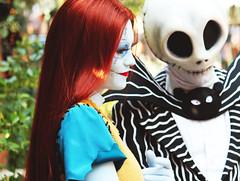 IMG_6150 (disneylandings) Tags: halloween face jack time disneyland character disney resort sally skellington