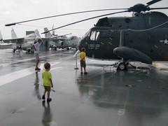 CIMG8058 (hapersmion) Tags: rain museum sam charlotte helicopter yorktown granddaddy homeschool bam 2014 beachtrip2014