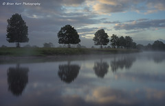 Reflections on the River Eden at Lazonby (.Brian Kerr Photography.) Tags: trees sky mist tree sunrise reflections landscape cumbria mistymorning rivereden lazonby briankerrphotography