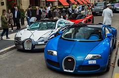 Saudi Hypercombo. (JayRao) Tags: paris france nikon august ferrari hybrid bugatti veyron 2014 jayr d610 plazaathenee grandsport hypercar orblanc laferrari